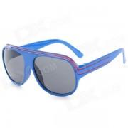 Marco de plastico de moda lente de resina UV400 gafas de sol de proteccion - azul