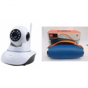 Zemini Wifi CCTV Camera and Mini Xtreme K5 Plus Bluetooth Speaker for LG OPTIMUS L5 DUAL(Wifi CCTV Camera with night vision |Mini Xtreme K5 + Bluetooth Speaker)