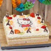City Bakery Hello Kitty slagroomtaart (Personen: 25 personen)