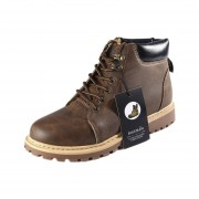 Alta casual botas de trabajo Martin con suela de goma suave para hombres