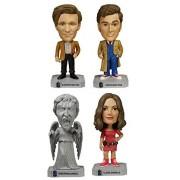 Incogneato Doctor Who Wacky Wobbler Bundle: Weeping Angel, Clara Oswald, 10 & 11 Doctors