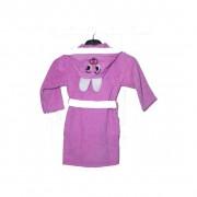 "Детски халат с ушички ""Purple Bunny"" - 100% Памук"