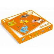 Puzzle lemn Animale salbatice, 5 piese