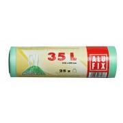Szemeteszsák, zárószalagos, 35 l, 25 db, ALUFIX (KHT180)