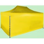 Nůžkový stan 3x4,5m ocelový, Žlutá, 4 boční plachty