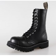 bőr csizma női - STEEL - 105/106 Black