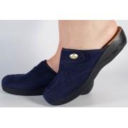 Papuci de casa bleumarini din plus dama/dame/femei (cod Gloria)