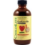 Cod Liver Oil Sirop cu aroma de capsuni x 237 ml ChildLife Secom