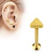 Helix piercing triangle goud kleurig 8 mm