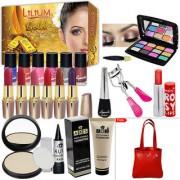 Winter Season Budget Beauty Makeup Combo With Gold Facial Kit Free Handbag For Women- (Set of 21)