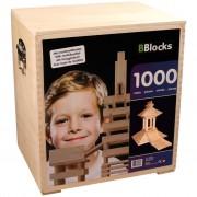 BBlocks Byggstavar 1000 st brun trä BBLO890202