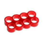 Clema E22 Stealth cu 8 sloturi pentru prinderea cablurilor, latime slot 4mm, culoare rosie