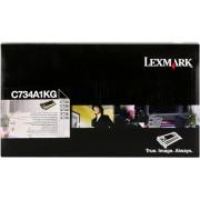 Lexmark Tóner negro Original C734A1KG