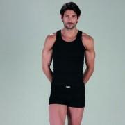 Minerva [2 Pack] Sporties Eco Vest Muscle Top T Shirt Black 12014