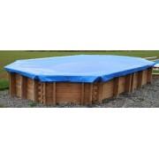 TIMBER védőtakaró a 3,0 x 3,0 m-es szögletes medencéhez, 550 mic. FFF 953