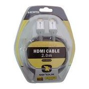 Cablu HDMI male-male 2m, gold-plated, super-calitate, retail, blister, SERIOUX