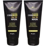 Park Daniel Activated Charcoal Peel off Mask- For Black Head Removal Deep Cleansing Instant Glow Combo pack(120 gms)
