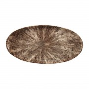 Churchill Studio Prints Stone Chefs Plates Zircon Brown 347 x 173mm (Pack of 6)