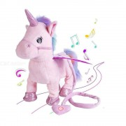 Electric Walking Unicorn Plush Toy Stuffed Animal Toy Electronic Music Unicorn Toy For Children Christmas Gifts