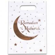 Geen 12x Ramadan Mubarak thema feestzakjes/uitdeelzakjes 23 x 17 cm