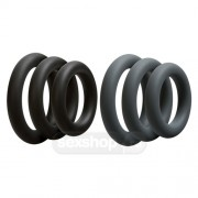 Doc Johnson Optimale 3 C-Ring Set Thick - Black