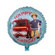 Balon folie Pompierul Sam Happy Birthday 45 cm