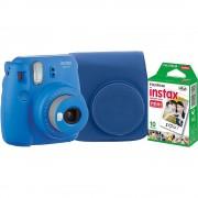 Fujifilm Instax Mini 9 Aparat Foto Instant Cobalt Blue cu Husa si Film 10 buc