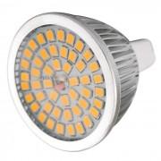 MR16 GU5.3 7W bulbo del proyector LED luz blanca caliente 3000K 48-SMD (12V)