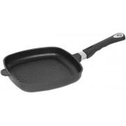 Tigaie grill  AMT Gastroguss E285G, 28cm (Negru)