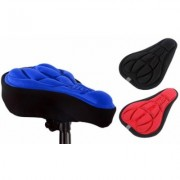 3D Gel Bicycle Seat Cover: Three/Black, Blue and Red (One of Each)
