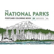 The National Parks Postcard Coloring Book: 20 Colorable Postcards of America's National Parks, Paperback