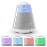 LTC FREESOUND65 Bluetooth-Lautsprecher Akku 360° Sound LED AUX USB SD UKW weiß