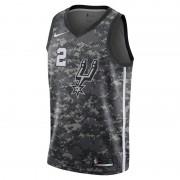 Maillot Nike NBA Kawhi Leonard City Edition Swingman (San Antonio Spurs) pour Homme - Noir