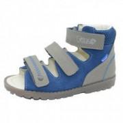 Sandale ortopedice din piele naturala pentru baieti PORTO PRT2-G Multicolor 30