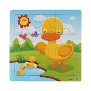 Lavany Lavany Wooden Chunky Puzzle Duck Jigsaw Toys For Kids Education And Learning Puzzles Toys