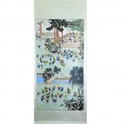 Pictura chinezeasca - Copii la scoala (cod B29-5)
