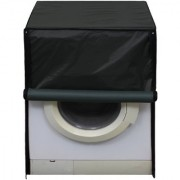Glassiano Black Polyester Front Load Washing Machine Cover