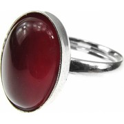 Inel argint reglabil cu carneol 14x10 MM GlamBazaar Reglabila cu Carneol Caramiziu tip inel reglabil de argint 925 cu pietre naturale