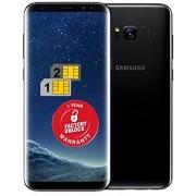 Samsung Galaxy S8+ Plus SM-G955FD Teléfono Desbloqueado de 64 GB, versión Estadounidense y América Latina (Medianoche Negro)