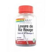 Solaray Levadura de Arroz Rojo Más Coq-10 y Omega 3 60 Cápsulas - Caja 60 comprimidos