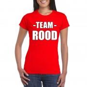 Bellatio Decorations Team shirt rood dames voor training