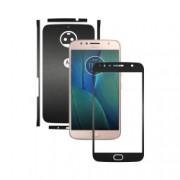 Folie de protectie Carbon Skinz Husa de tip Skin Adeziv pentru Carcasa Negru Mat dedicata Motorola Moto G5S Plus