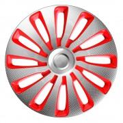 Dísztárcsa (17) Sepang Carbon Silver Red 4db-os garnitúra