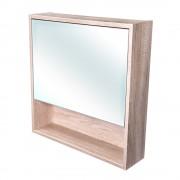 Amsterdam galerka 1x výklopné barva zrcadlo v AL rámu korpus korpus Dub bardolino šíře 60 (CA.G1V.194.060) CEDERIKA