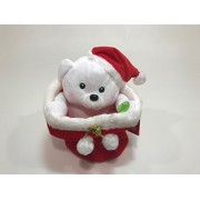Perfect for Gift for Christmas Plush Animated Polar Bear - 9 in - peek a Boo
