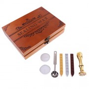 ELECTROPRIME® Retro Gold Wax Seal Stamp+Sealing Wax Sticks+Spoon for Wedding Invitation