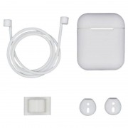 4-in-1 Apple AirPods / AirPods 2 Silicone Accessories Kit - White