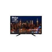 Smart TV LED 32 Philco PH32B51DSGWA HD com Conversor Digital 2 HDMI 2 USB Wi-Fi Android - Preta