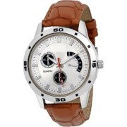 KDS Analog White Dial Men's Watch - WCH-121