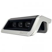 Încărcător cu trei porturi USB Leitz Style, negru satin